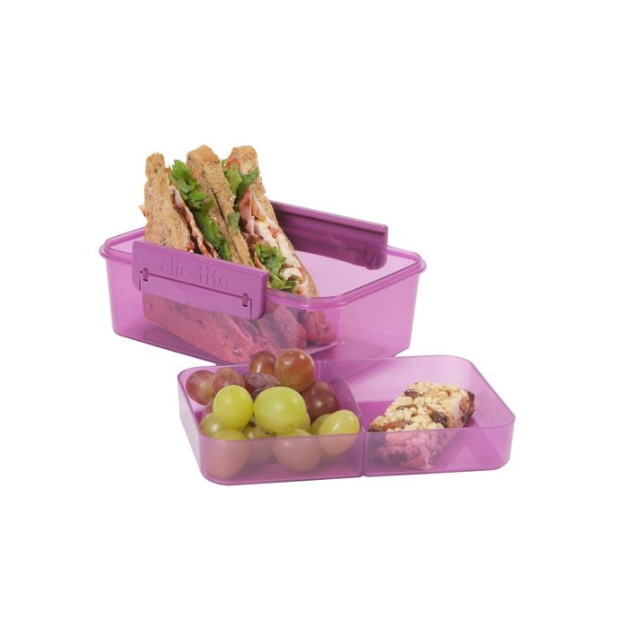Clic-Tite 1.1L Double Decker Lunch Box Berry by Polar Gear